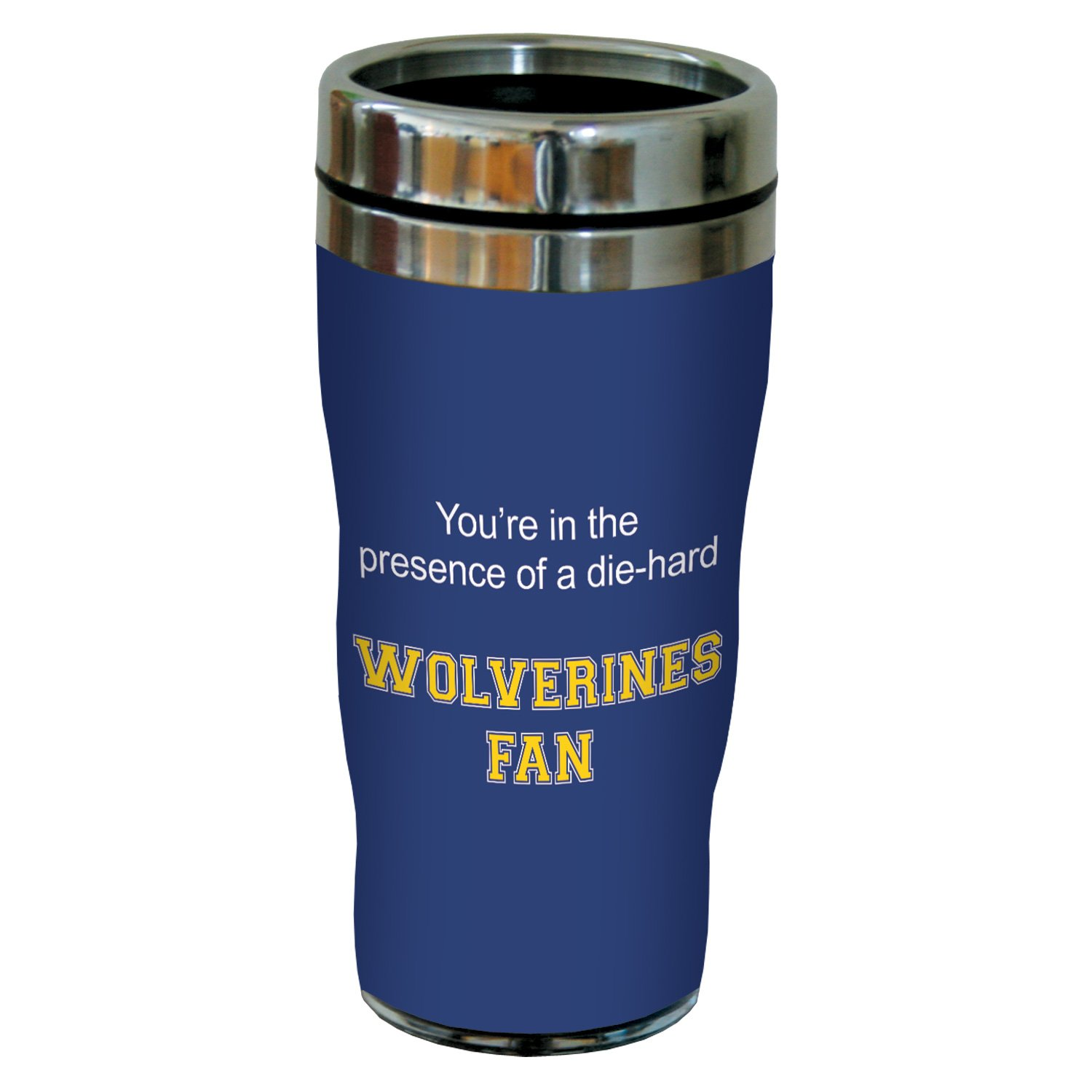 Tree-Free Greetings sg24786 Wolverines College Basketball Sip 'N Go Stainless Steel Lined Travel Tumbler, 16 Ounce