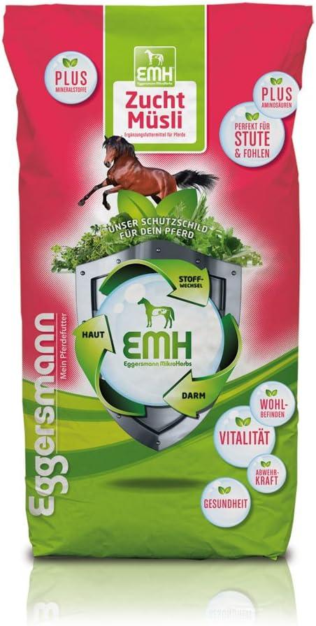 Eggersmann Mein Pferdefutter Forro para cría Caballos, stuten, hengste y Potro, Eggers Muñeco de cincelar Cría Cereales para Caballos de 1 Unidades (1 x 20 kg)…