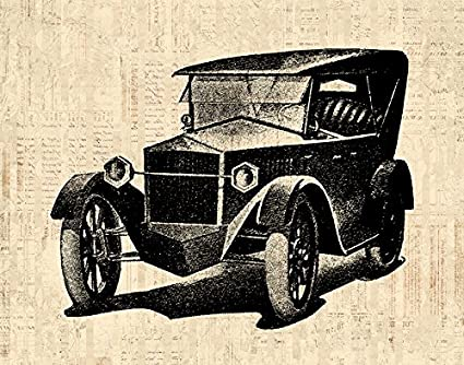 Amazon.com: Classic Automobile Wall Art Print for Home Decoration ...
