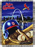 """MLB St. Louis Cardinals Home Field Advantage Woven Tapestry Throw, 48"""" x 60"""""""