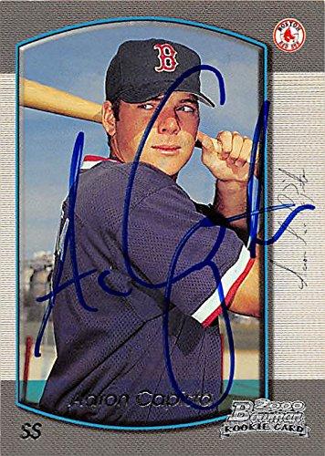 2000 Bowman Autograph - Aaron Capista autographed baseball card (Boston Red Sox, FT) 2000 Bowman Rookie #21