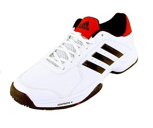 promo code d4f62 bbff2 Adidas Barricade Court Men s Tennis Shoe White Black Red ...