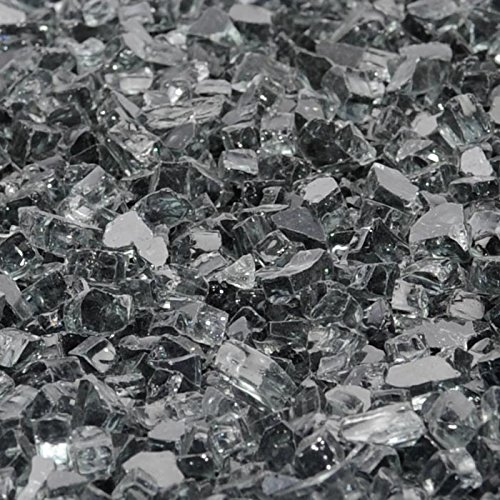 1/2 ''Gunmetal Gray Fireglass 10 Pound Bag