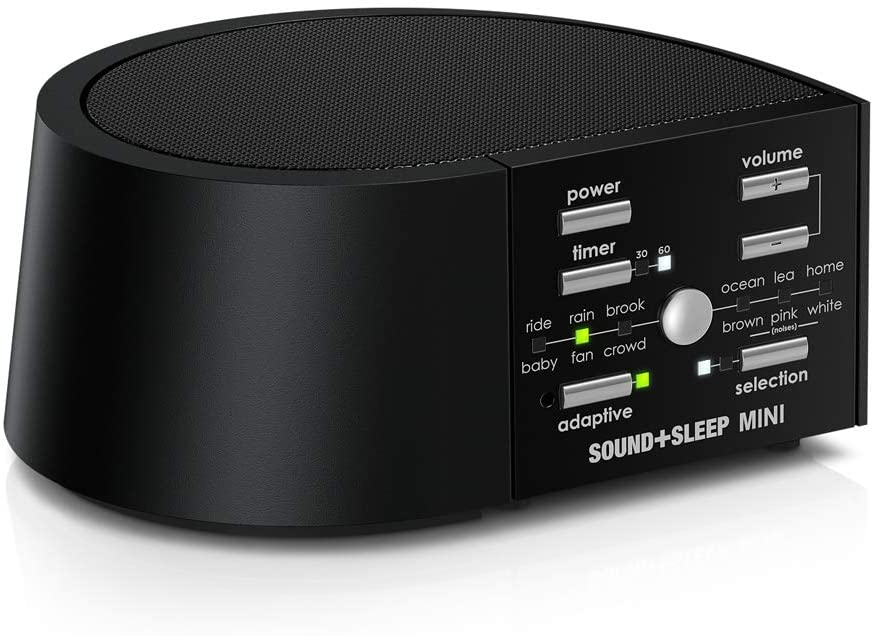 Sound+Sleep MINI High Fidelity Sleep Sound Machine with AC and Battery Power, Real Non-Looping Nature Sounds, Fan Sounds and White Noise