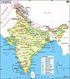 India Map (36'' W x 40.69'' H)