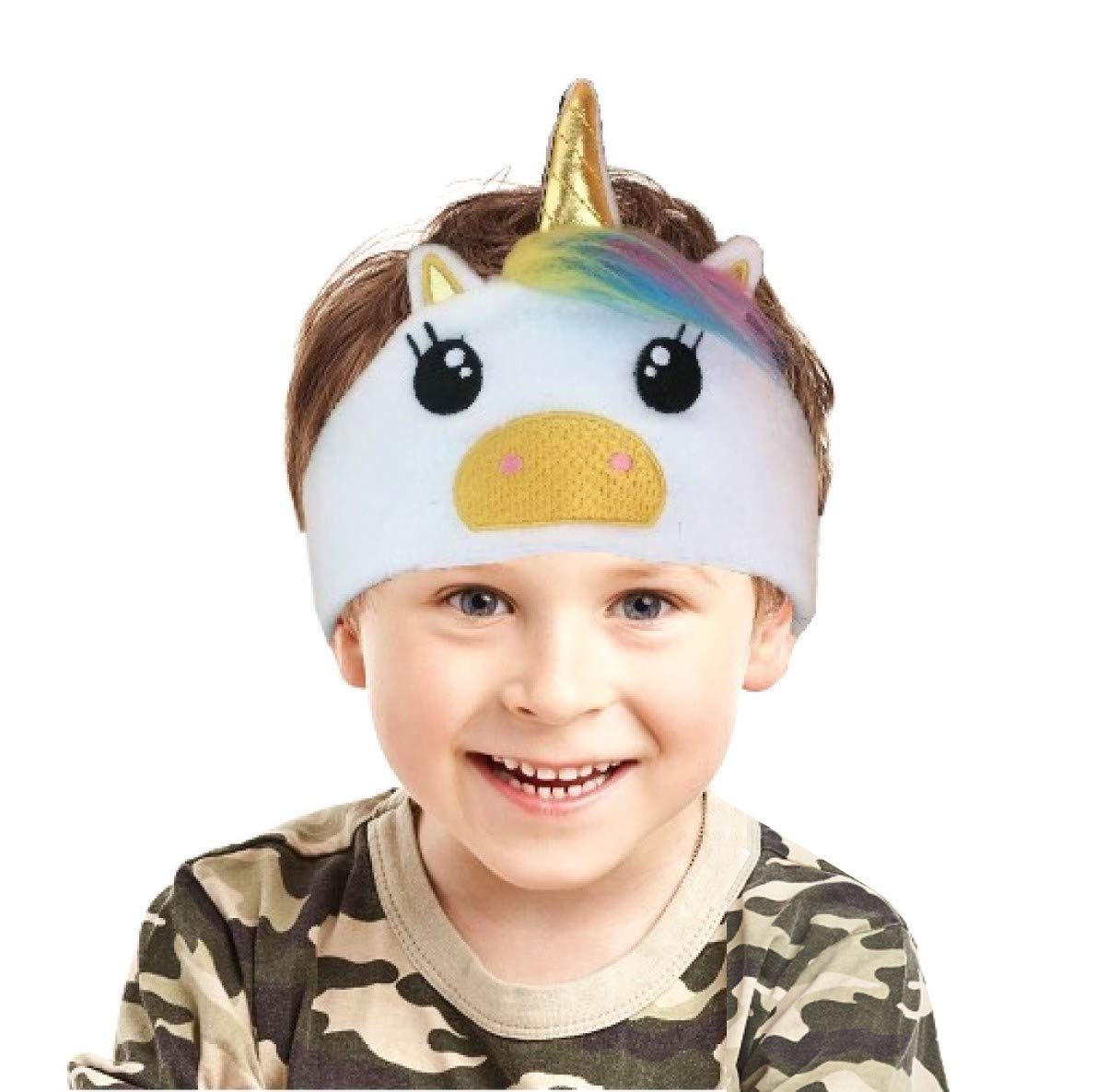 Kids Headphones Children Girls Boys Teens Volume Limiting Foldable and Durable Headphone Headband for School, Home and Travel (White)