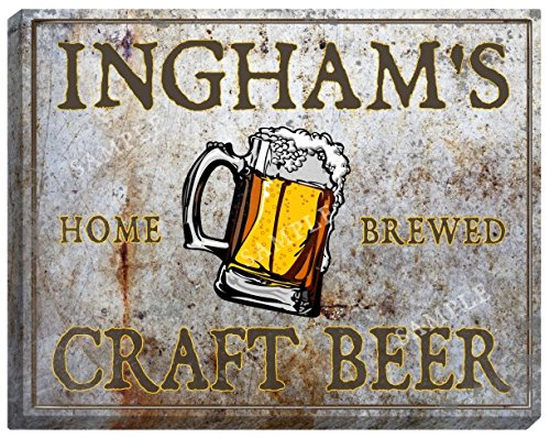 inghams-craft-beer-stretched-canvas-sign