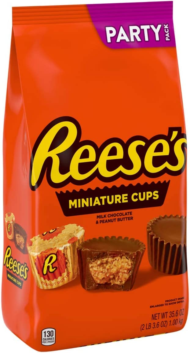 Reese's Miniature Cups (Milk Chocolate and Peanut Butter) 35.6 oz 1 kg Party Bag