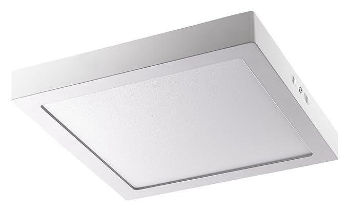 Plafoniera Led Rettangolare : Alco 9229 plafoniera led rettangolare circa 22 5 x 4 cm argento