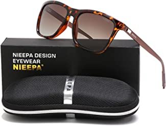 2def729cd1 NIEEPA Rectangular Polarized Sunglasses AL-MG Temple Retro Driving Sun  Glasses