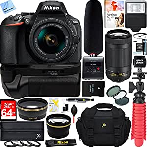 Nikon D5600 Digital SLR Camera + 18-55mm & 70-300mm Dual Lens Tascam Video Creator Bundle