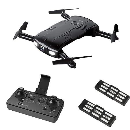 Drone con cámara de vídeo en vivo, RC Quadcopter Pocket drones con ...