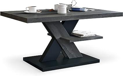 Tavolino Da Salotto Arredamento Moderno Colore In Acciaio E Nero Tavolini Da Salotto Moderni Con Un Ripiano Tavolino Soggiorno Elegante Complemento Di Qualsiasi Soggiorno Amazon It Casa E Cucina