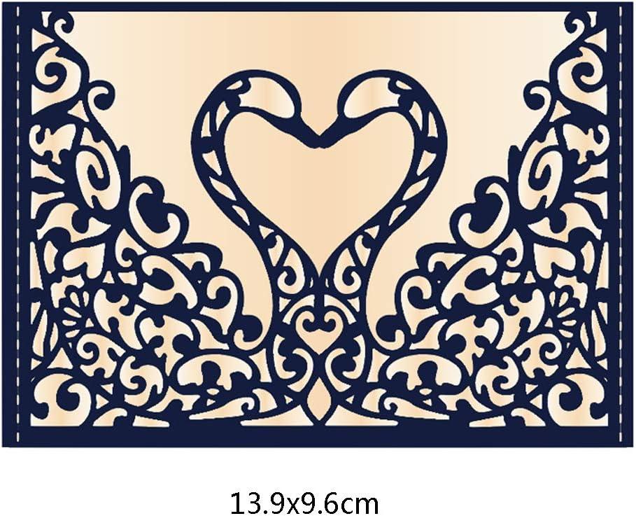 MIsha Die Cutting Dies Swan Metal Cutting Dies Stencil DIY Scrapbooking Album Stamp Paper Card Embossing Craft Decor