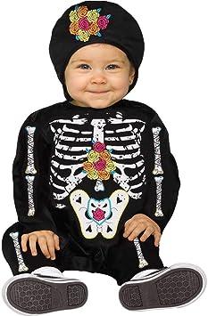 Day of the Dead Baby Bones Toddler Halloween Fancy Dress Costume