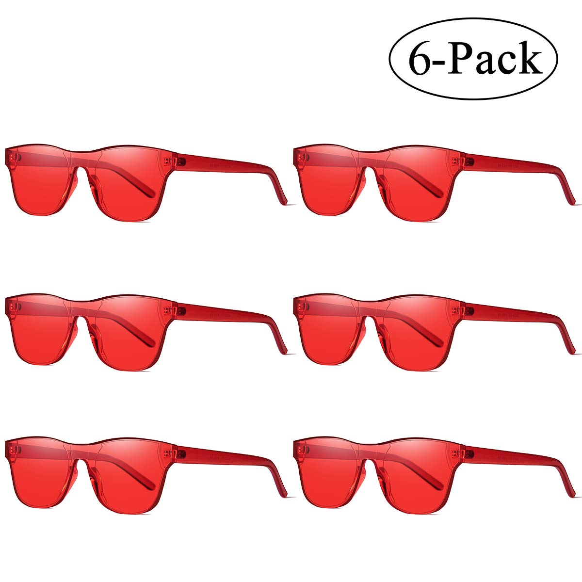 7c90df97212 Aooffiv one piece rimless tinted sunglasses transparent candy colors glasses  red pack clothing jpg 1200x1200 Transparent