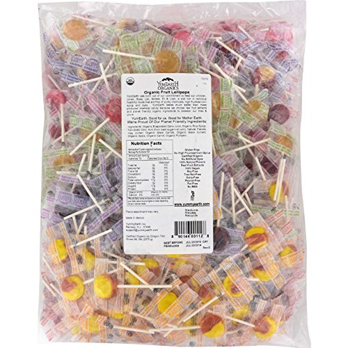 Yummy Earth Organic Fruit Lollipops - Assorted Fruits Flavors - 5 lb Container - 95%+ Organic - Gluten Free - 100% Natural Flavors - Vegan by YummyEarth