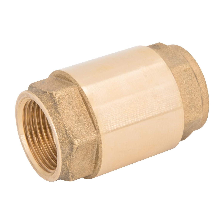 1 Valvola di non ritorno con filettatura femmina su entrambi i lati che blocca automaticamente un fluido allinterno di una tubazione come valvola di ritegno o valvola di controllo direzionale.