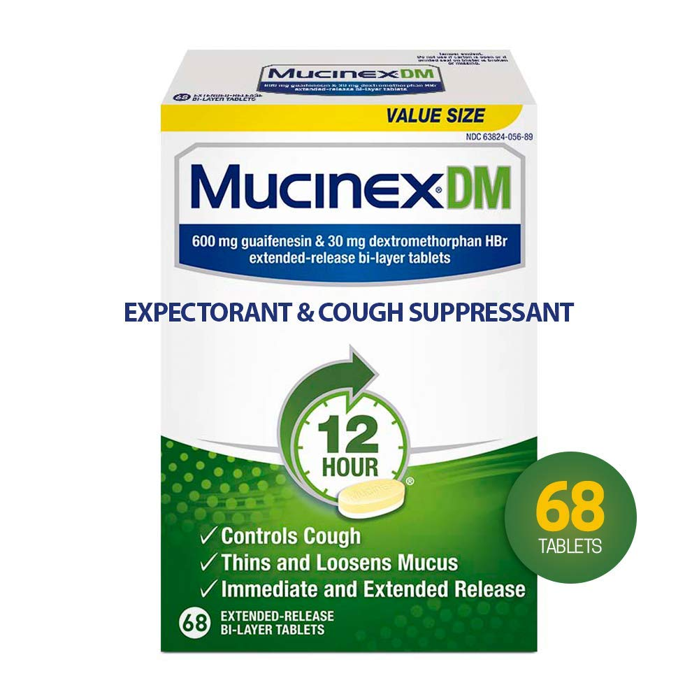 MUCINEX DM Extended Release Bi-Layer Tablet, 68 count by Mucinex