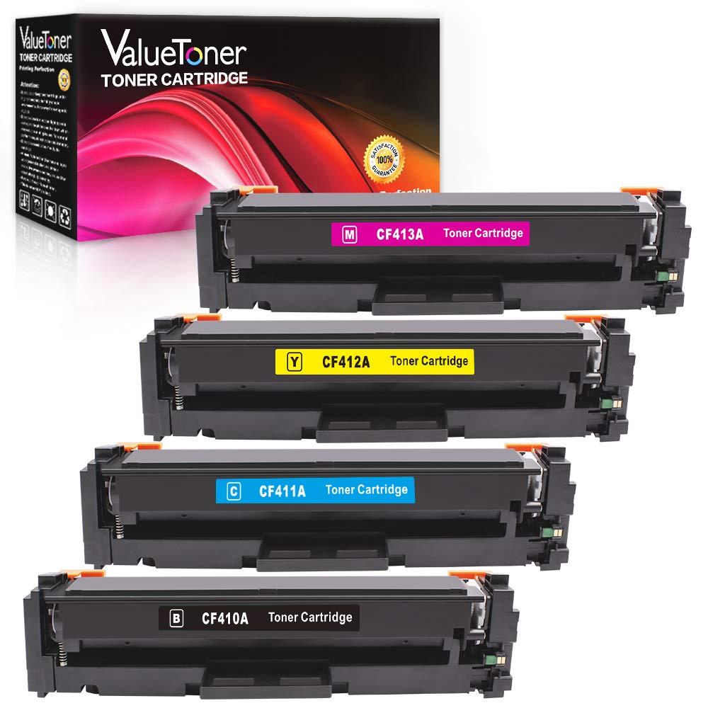 Valuetoner Compatible Toner Cartridges for HP 410A CF410A CF411A CF412A CF413A for HP Color LaserJet Pro MFP M477fnw M477fdn M477fdw M452dn M452nw M452dw,M477 M452 Printer,(Black/Cyan/ Magenta/Yellow)