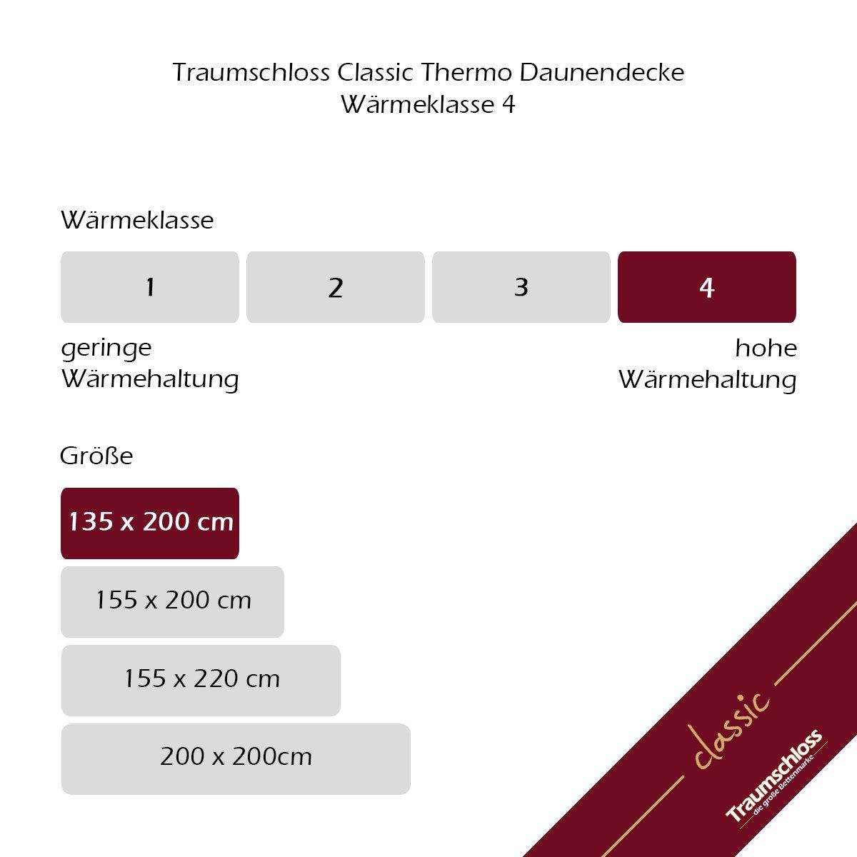 Traumschloss Classic Thermo Daunenbett Bettdecke (perl, 135 135 135 x 200 cm) f77b2e