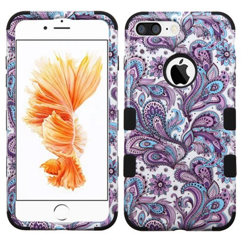 Wydan Compatible Case for iPhone 8 Plus, iPhone 7 Plus - TUFF Hybrid Hard Shock Absorbent Case Protective Heavy Duty Impact Skin Cover for Apple - Paisley