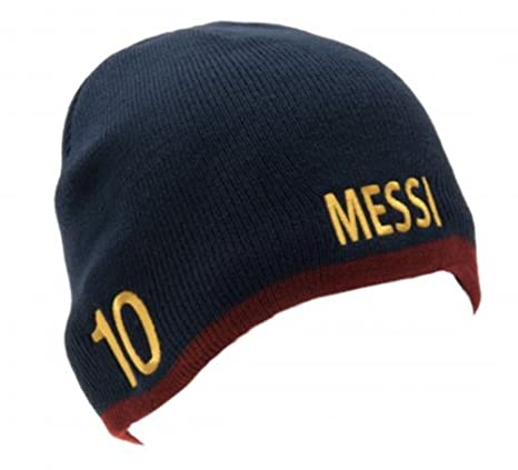 99740a55722 Amazon.com   FC Barcelona Authentic Messi Knitted Hat   Sports   Outdoors