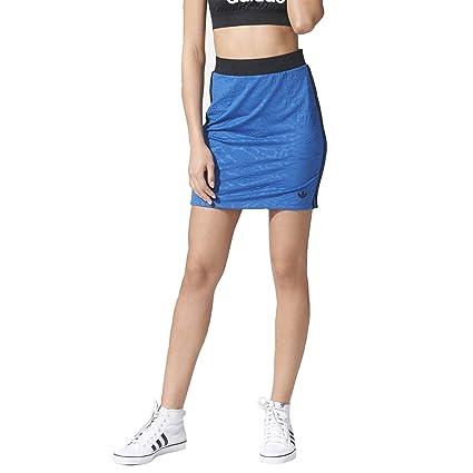 adidas Originals Mujer Bermuda con 3 rayas falda Azul azul 36 ...