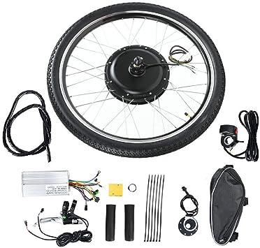 Electric Bike Conversion Kit w//Motor Front Wheel Hub Speed 26'' 48V 1000W