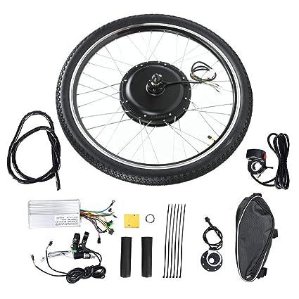 Caredy Kit de Bicicleta eléctrica, 48V 1000W 26 Pulgadas Rueda Delantera/Trasera E-Bike Cycle Motor Motor Kit de conversión de Ebike Kit de conversión de Ebike(Conducir de Vuelta): Amazon.es: Deportes y aire libre