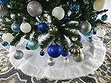 """40"""" Plain White Christmas Tree Skirt"""