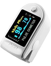 AVAX 50D - Doigt oxymètre de pouls -% SpO2 (saturation en oxygène dans le sang) et moniteur de fréquence cardiaque avec cordon et étui de transport (dans son emballage) -BLANC