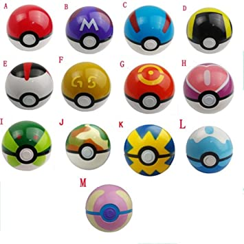 POKEMON - SET 13 POKEBALLS / POKEBOLAS / 13 POKE BALLS SET 7 ...