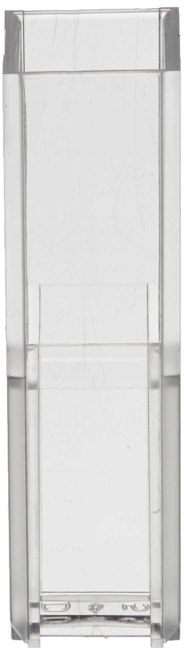 Jenway 060-087 Plastic Disposable Cuvette for Spectrophotometry, Visible Wavelength, 10mm Path Length, 1.5 to 3ml Fill Volume (Pack of 100)