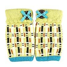 Women's/Girls Cute Winter Fingerless Knitted Gloves,Yellow