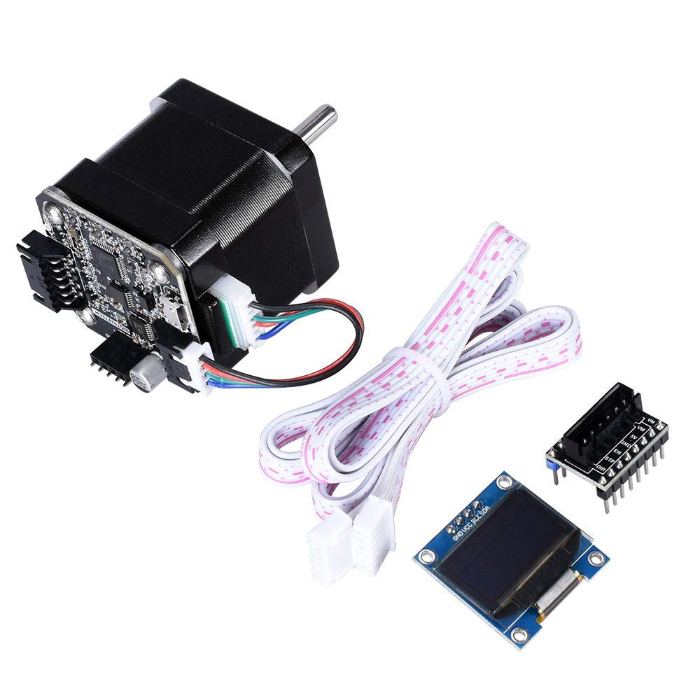 KINGPRINT 42 Closed-Loop Stepper Motor Set Servo Motor with Adapter Plate for Direct use with Display