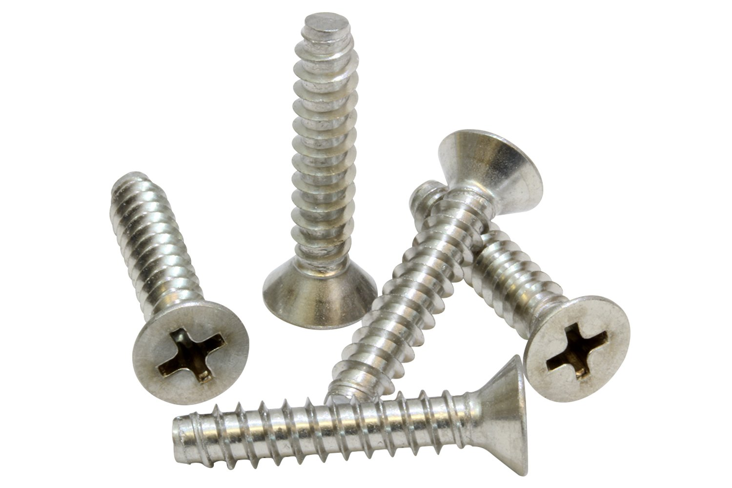 100 pc Type B Point 304 18-8 Stainless Steel Screw by Bolt Dropper #8 X 3//4 Stainless Flat Head Phillips Wood Screw,