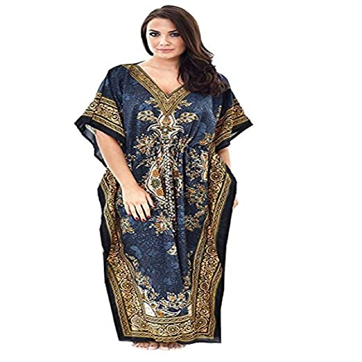 0d14860383142 Divine India Women Kaftan Dress Beach Cover Up Ladies Fashion Kaftan ...
