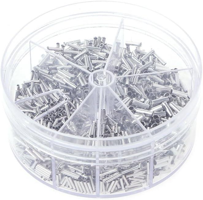CADANIA 1900 Piezas Terminales de Extremo de Cable de Cable de engarce de Cobre Conjunto eléctrico 0.5-2.5mm²