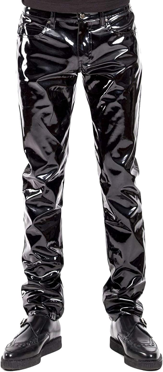 men`s leather pants black //Designer leather pants 30 31 32 33 34 36 38 40 42 44