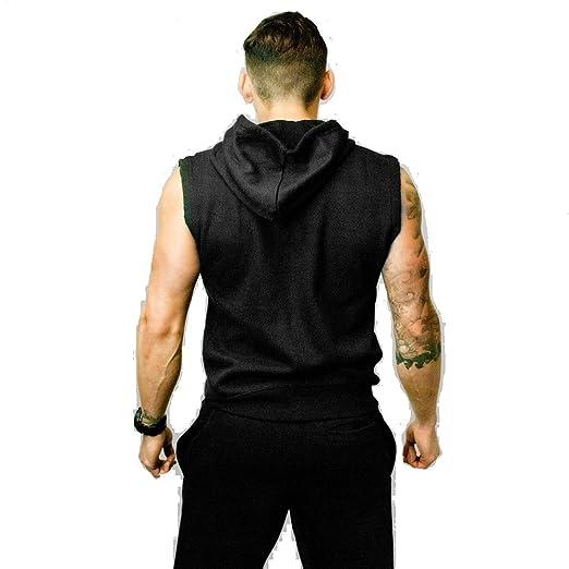 a9a5c1444d896 CoreX Fitness Heritage Sleeveless Hoodie - Men s  Amazon.co.uk  Clothing