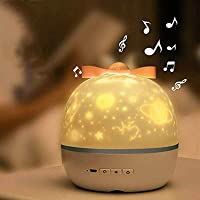 Dynamic Projection Lamp,LED Light Projector For Bedroom,6 Colors Mode Starry Sky Projector,With Built-in Music,For…