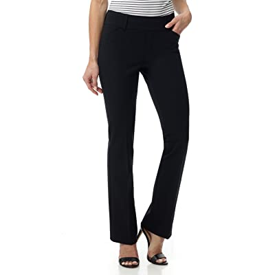Rekucci Women's Smart Chic Bootcut Pant in Ultimate 4-Way Stretch Cotton at Women's Clothing store