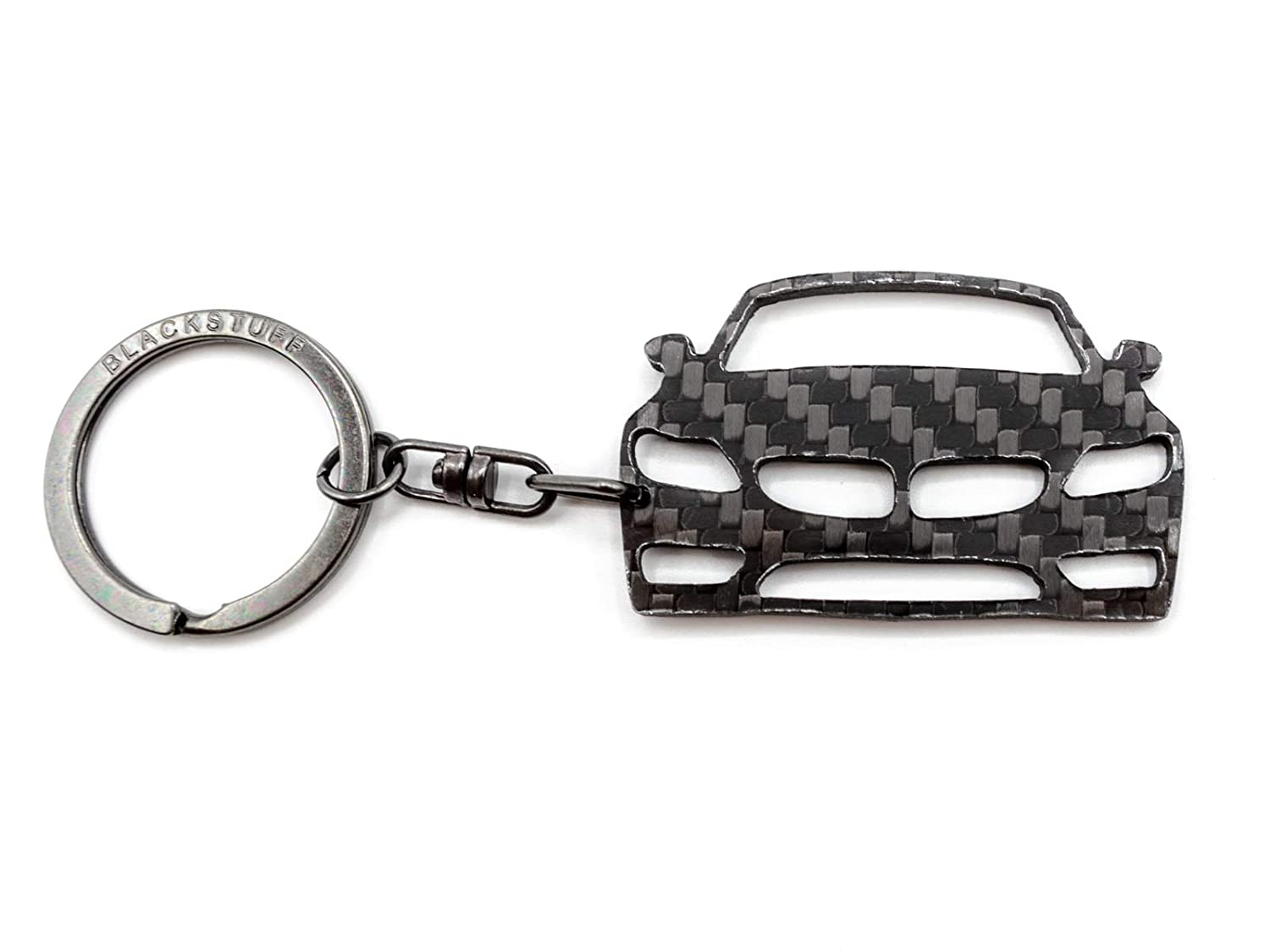 BlackStuff Carbon Fiber Keychain Keyring Ring Holder Compatible with Cooper S JCW F55 F56 F57 2013-2019 BS-772