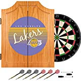 NBA Los Angeles Lakers Wood Dart Cabinet, One Size, Brown