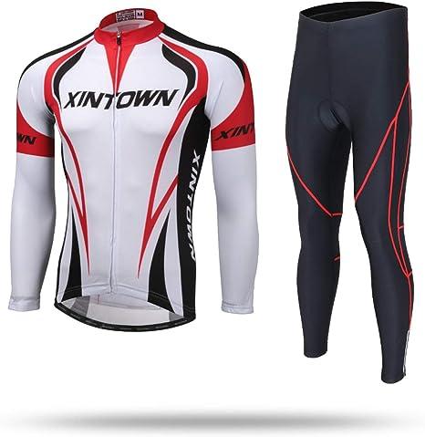 Unkoo Camisa ciclista de manga larga para hombre MTB Ciclismo de ...
