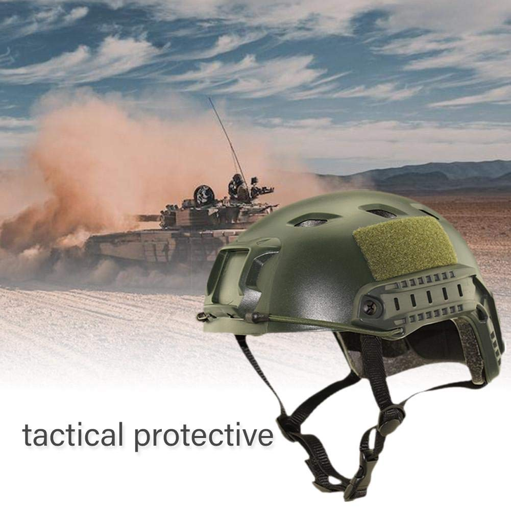 Nicololfle Tactical Casque Multi-Fonctionnel T/ête Protection Arm/ée Militaire Style CS /À Cheval Saut Rapide CS Jeu Casque pour Sport en Plein Air