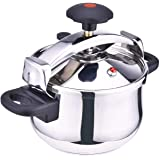 STAINLESS STEEL PRESSURE COOKER 6 LTR MADE IN ITALY