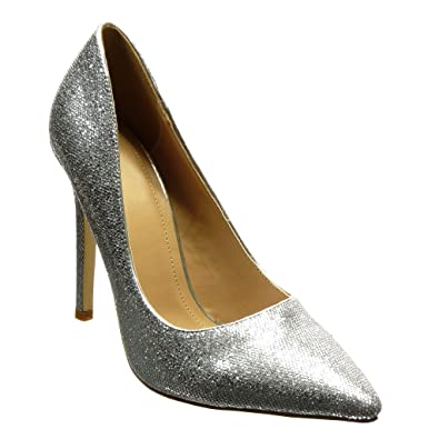 Angkorly - Damen Schuhe Pumpe - Stiletto - Sexy - Glitzer - glänzende  Stiletto high Heel e28b00d811