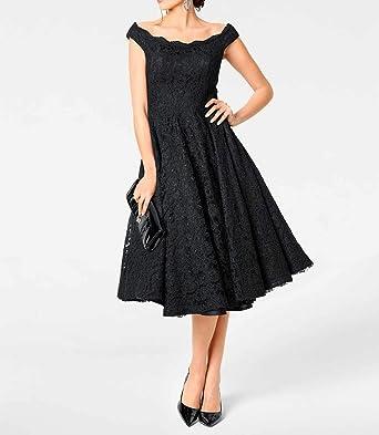 Ashley Brooke Heine sukienka koronkowa z petticoat, czarna rozm. 34 40 44 46 48 sukienka: Odzież
